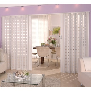 Homestyle Metro White with Frosted Squares Insert Folding Door