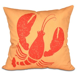 Lobster 20-inch Animal Print Pillow