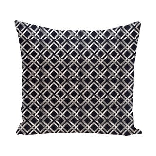 Rope Rigging 18-inch Geometric Print Outdoor Pillow