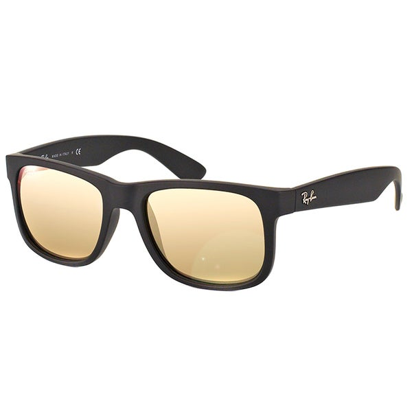 Ray Ban Unisex RB 4165 Justin Black Rubber Sunglasses