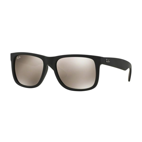 Ray Ban Unisex RB 4165 Justin Black Rubber Sunglasses 16689957