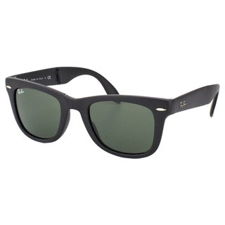 Ray Ban Unisex RB4105 Folding Wayfarer 601S Matte Black Plastic Sunglasses