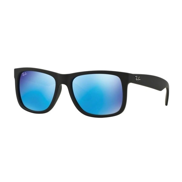 Ray-Ban Justin Color Mix RB 4165 Unisex Black Frame Blue Mirror Lens Sunglasses 16689981
