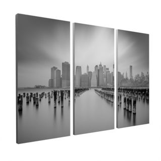 Moises Levy 'Manhattan Skyline' Gallery Wrapped Canvas Wall Art