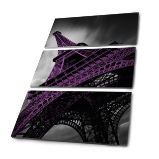 Moises Levy 'Paris 3-11 Bn -Pop' (48 x 30) Gallery Wrapped Canvas Wall Art