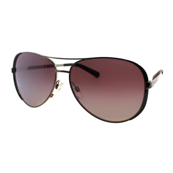 Michael Kors Womens Chelsea MK 5004 101362 Gunmetal Black Metal Aviator Polarized Sunglasses