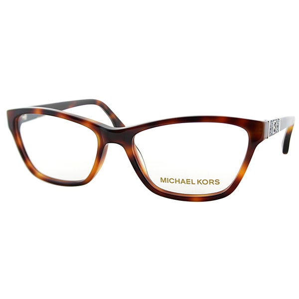Michael Kors Womens MK 269 240 Brown Havana Rectangle Plastic Eyeglasses-51mm