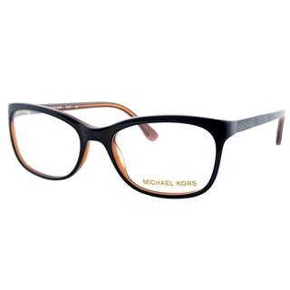 Michael Kors Womens MK 247 466 Navy Rectangle Plastic Eyeglasses-52mm