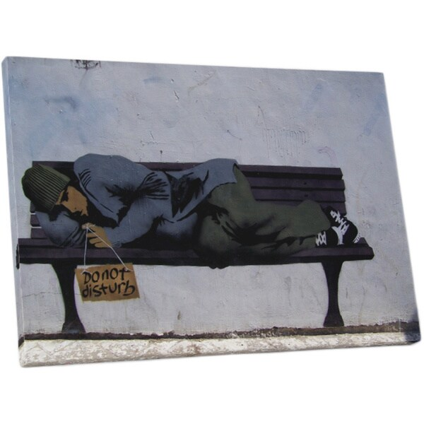 Banksy 'Do Not Disturb' Gallery Wrapped Canvas Wal Art
