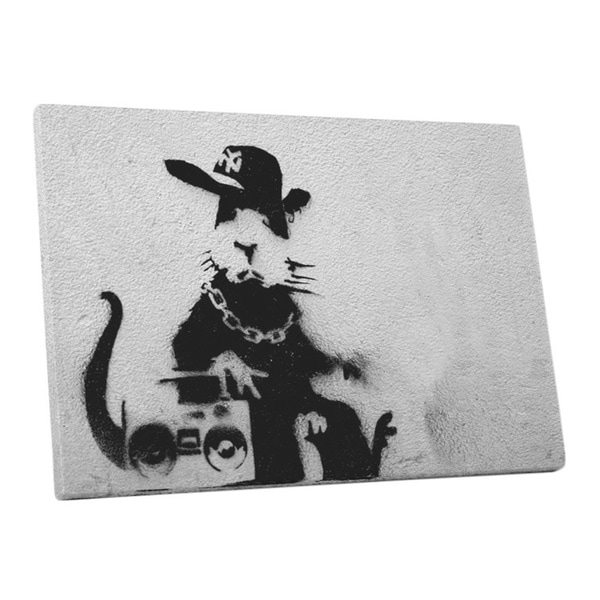 Banksy 'Boom Box Rat' Gallery Wrapped Canvas Wall Art 16690072