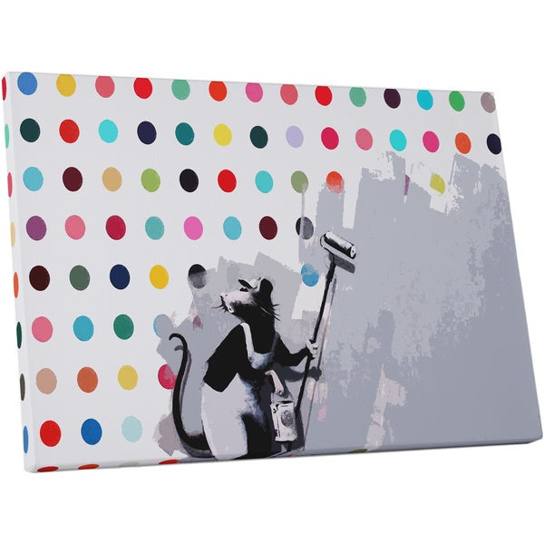 Banksy 'Rat Hirst Spots' Gallery Wrapped Canvas Wall Art 16690081