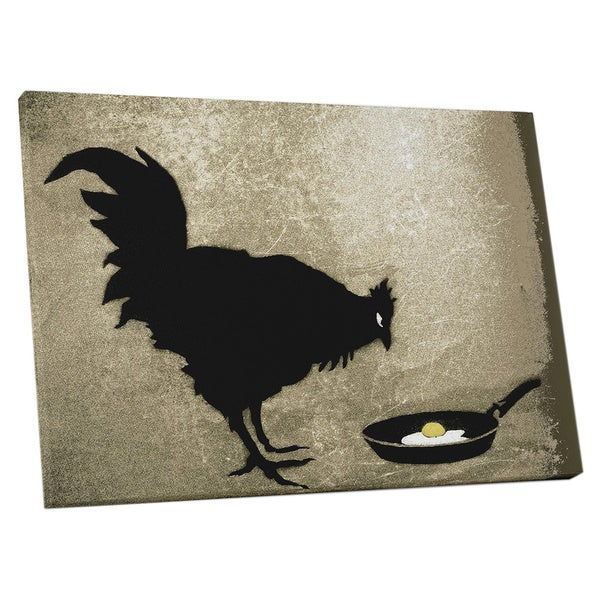 Banksy 'Chicken and Fried Egg' Gallery Wrapped Canvas Wall Art