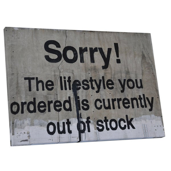 Banksy 'Lifestyle Out of Stock' Gallery Wrapped Canvas Wall Art