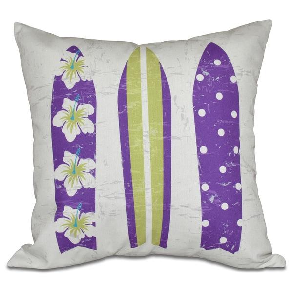 Triple Surf Geometric Print 26-inch Pillow