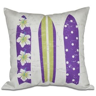 Triple Surf Geometric Print 16-inch Pillow