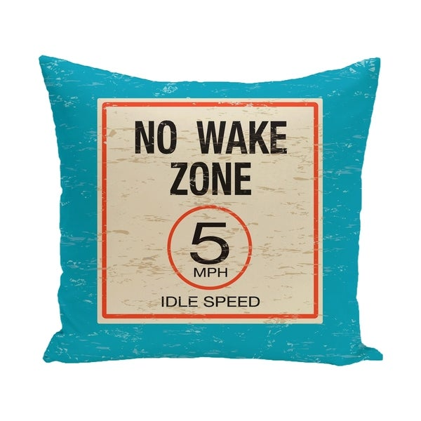 No Wake Word Print 14 x 20-inch Outdoor Pillow
