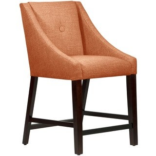 Skyline Furniture Hartley Guava Button Swoop Counter Stool