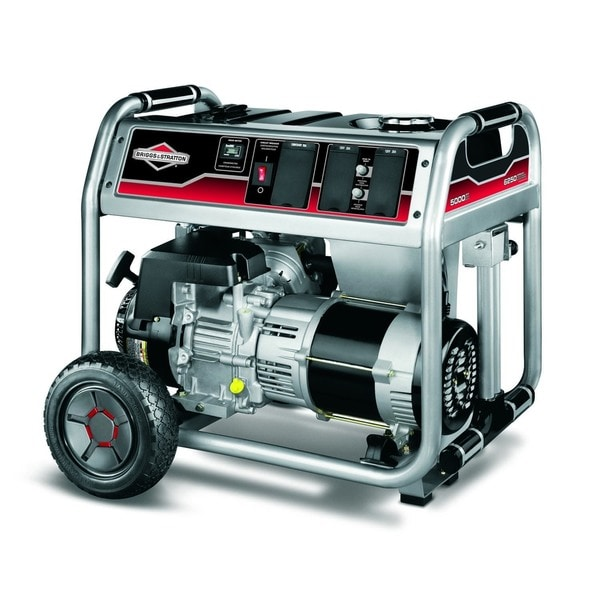 Briggs & Stratton 5000 Watt Gas Powered Portable Generator with Hour Meter