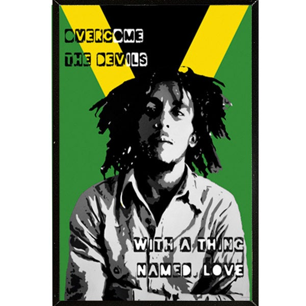 Bob Marley Collage Wall Plaque (24 x 36)