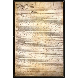 US Constitution Wall Plaque (24 x 36)