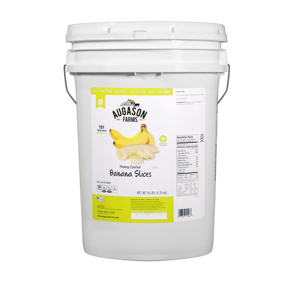 Augason Farms Honey Coated Banana Slices 6-gallon Pail