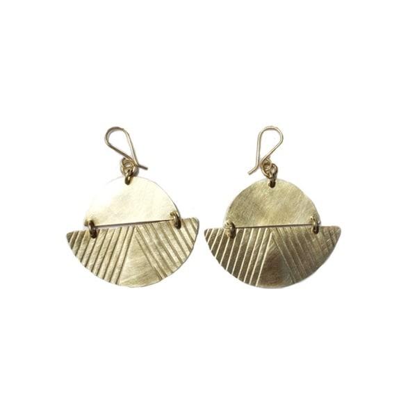 Brass Costello Earrings