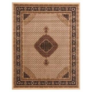 Brillante Cream Oriental Rectangular Area Rug (4'11 x 7'8)
