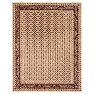 Brillante Oriental Rectangle Cream Area Rug (4'11 x 7'8)