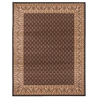 Brillante Oriental Black Area Rug (4'11 x 7'8)