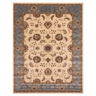 Brillante Oriental Rectangular Cream Area Rug (4'11 x 7'8)