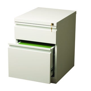 20-inch White Moblie Pedestal with Extended, Box/ File