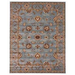 Brillante Oriental Blue Rectangluar Area Rug (4'11 x 7'8)