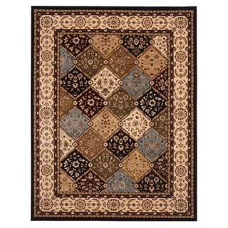 Brillante Oriental Ebony Area Rug (4'11 x 7'8)