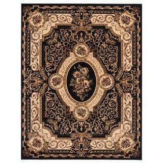 Brillante Oriental Ebony Rug (4'11 x 7'8)