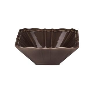 Countryside Moka Square 6-inch Fruit Bowl (Set of 4)