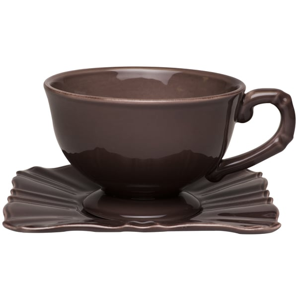Countryside Moka Jumbo Cup / Saucer (Set of 4) 16691096