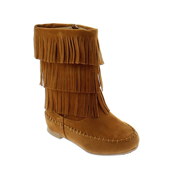 Shoes Of Soul Infant and Girl's 3-Layer Fringe Boots