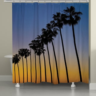 Laural Home La Jolla Sunset Palms Shower Curtain 72x72