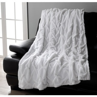 Baldwin Ruched Faux Fur Throw