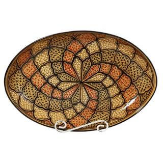 Le Souk Ceramique Honey Design Poultry Platter (Tunisia)