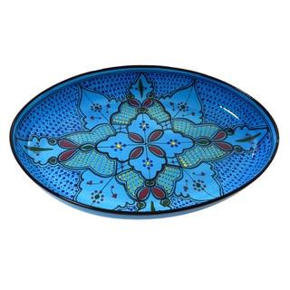 Le Souk Ceramique Sabrine Design Poultry Platter (Tunisia)