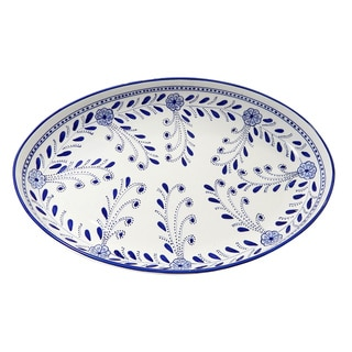 Le Souk Ceramique Azoura Design Poultry Platter (Tunisia)