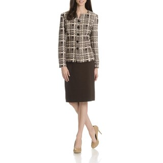 Danillo Women's Abstract Print 2 Piece Skirt Suit