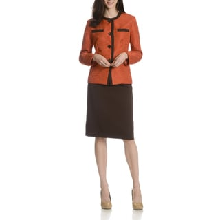 Danillo Women's Contrast Twill 2-Piece Skirt Suit
