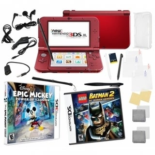 New Nintendo 3DS XL Bundle with 2 Games and 17-in-1 Kit
