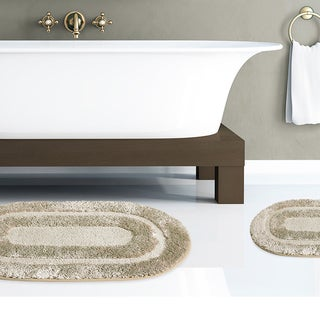 Plush 2-piece Microfiber Bath Rug Set