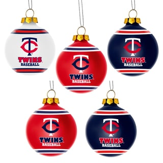 Forever Collectibles Minnesota Twins Shatterproof Ball Ornament Set
