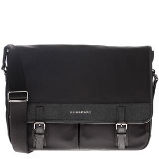 Burberry London Nylon and Leather Messenger Bag