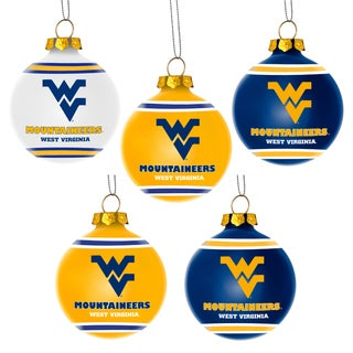 Forever Collectibles West Virginia Mountaineers Shatterproof Ball Ornament Set