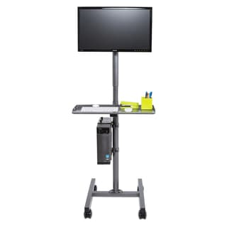 Single Flat Screen Computer Cart